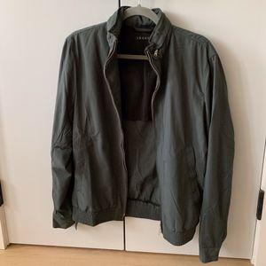 GREAT CONDITION Theory Khaki Green Jacket w/ Hood